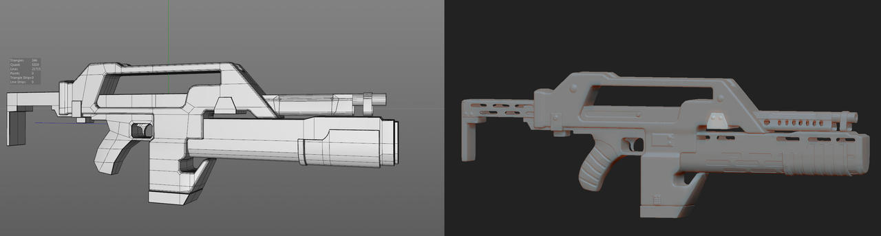 Pulse Rifle WIP by PixelPandaa