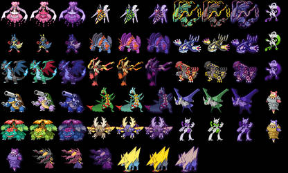 Mega Evolutions and different colors by VVArtist