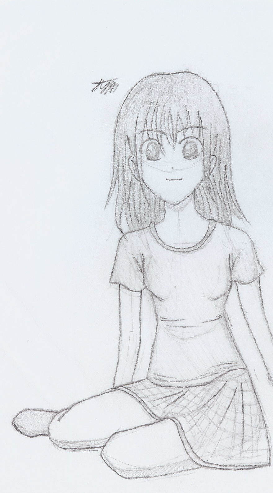 How To Draw Anime Girl Sitting Down
