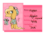{CC} Villager Registration - Aspen by O-at