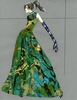 Marble Paper Dress by Tess-san