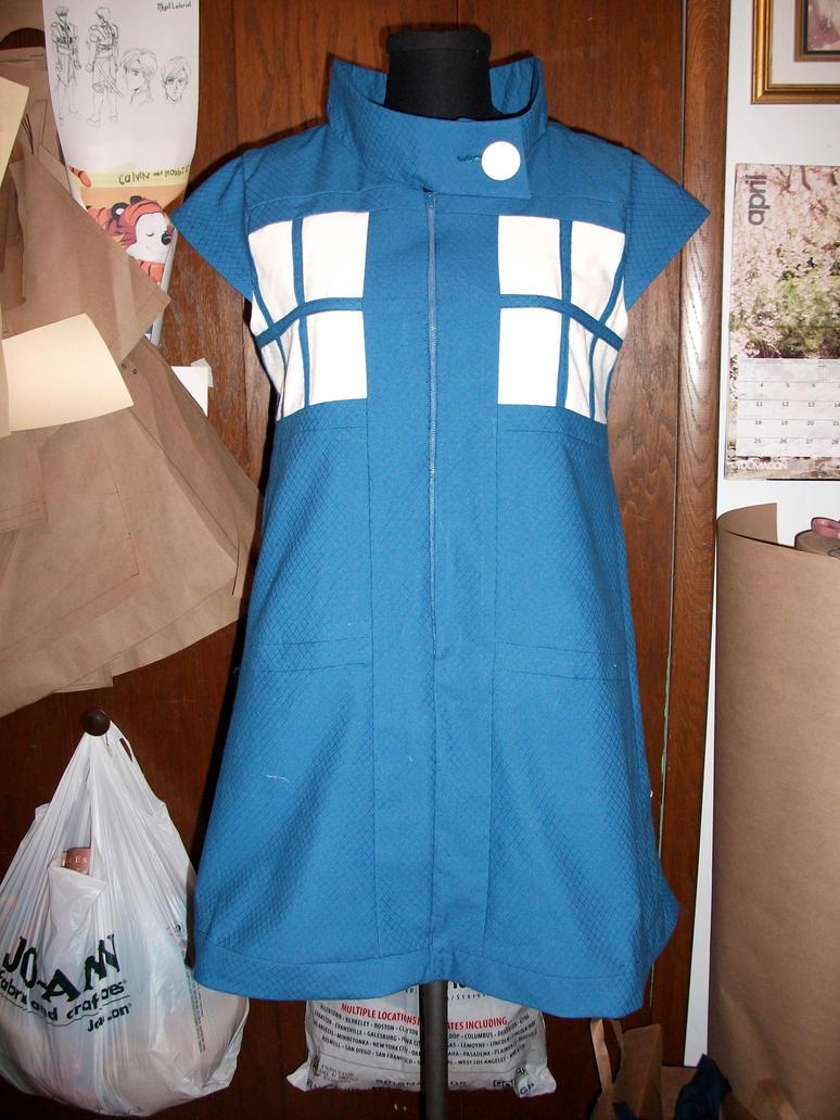 TARDIS dress test by Tess-san