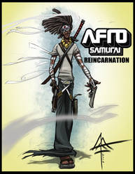 Luis as Afro Samurai - 2 by Mattius2011