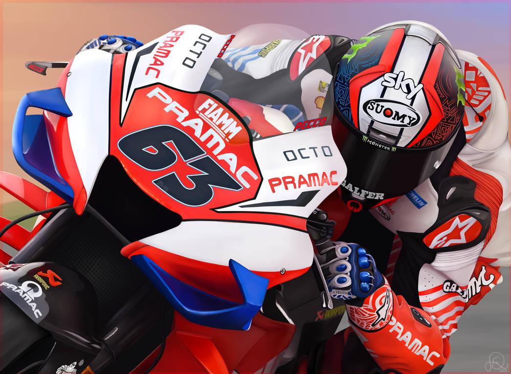 Pramac Ducati's Francesco Bagnaia