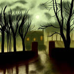 spooky painting