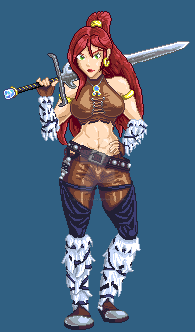 Pixel Rynn Tail SFW by setsunashadow
