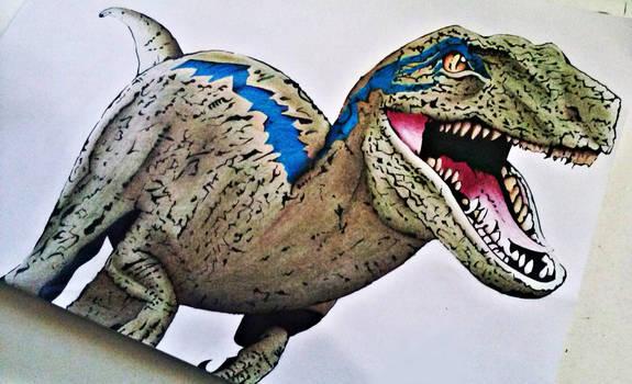 Jurassic World - Blue, the velociraptor.