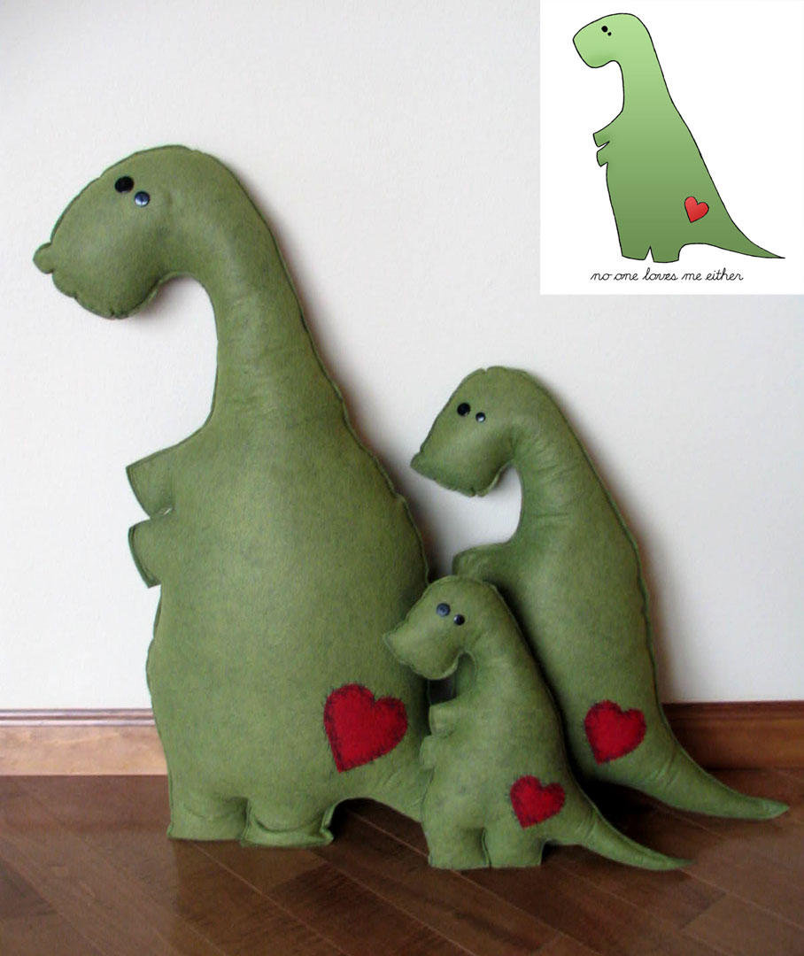Stuffed t rex family by smegosaurus on deviantart for T rex family