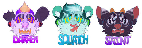hypno badges by Meowipede