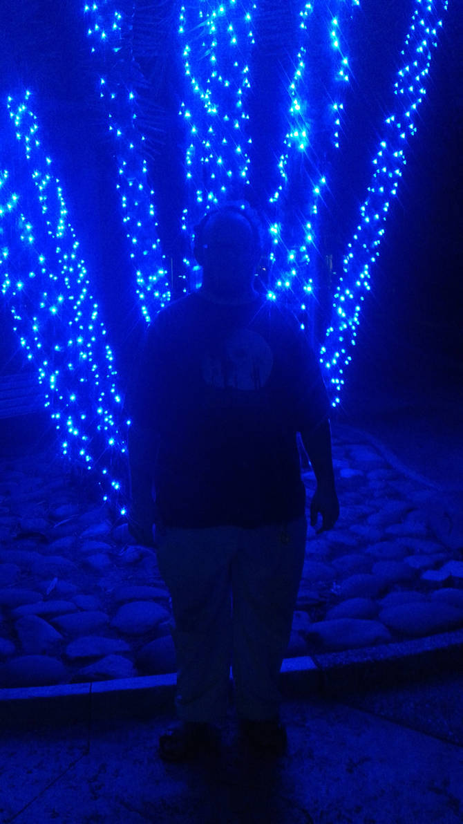 Me and blue lights