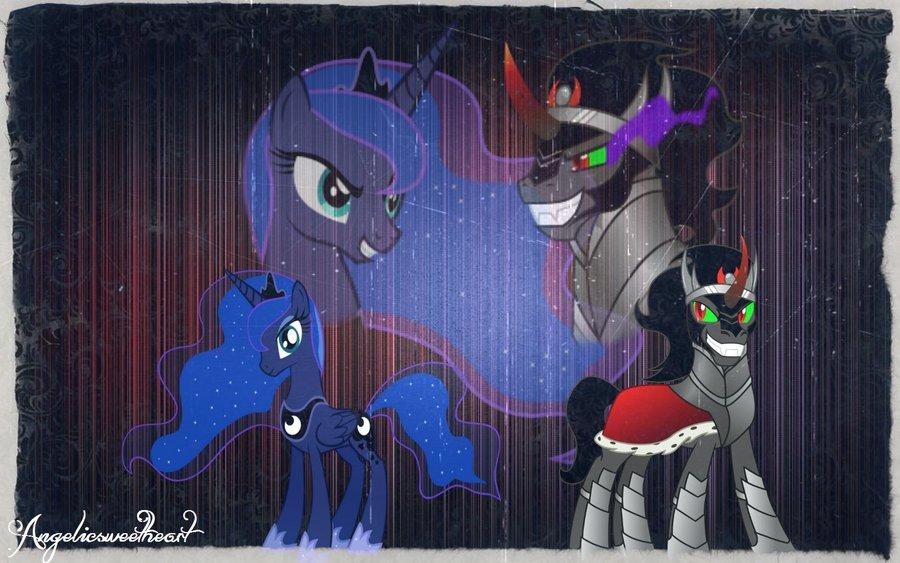 ~ Princess Luna x King Sombra ~ by Caitybabygirl on DeviantArt