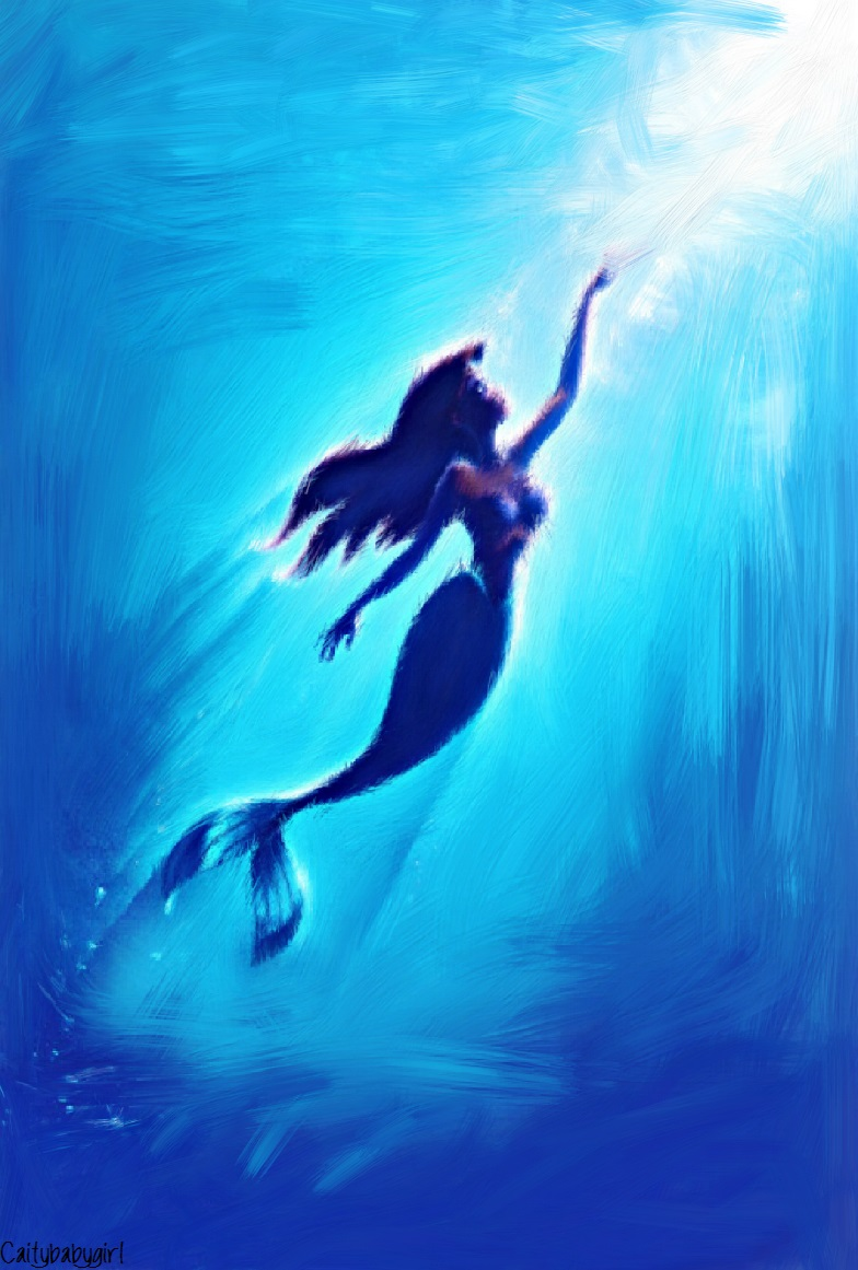 Little Mermaid Painting by Caitybabygirl on DeviantArt
