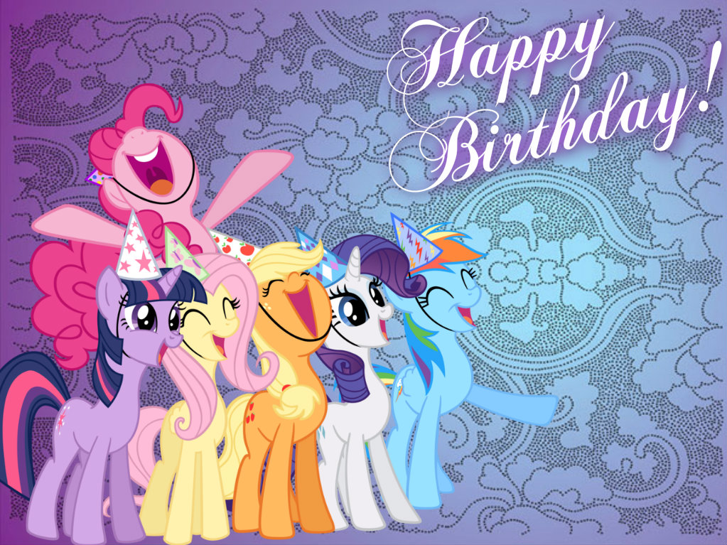 my little pony birthday wallpaper - photo #30