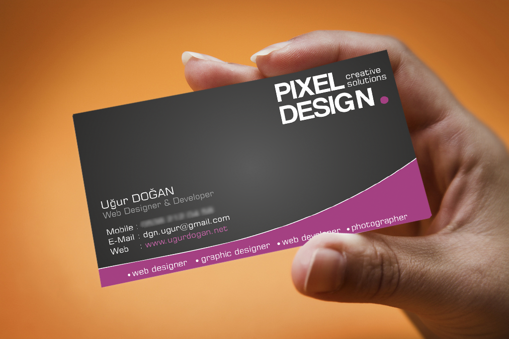 Visiting card design sample