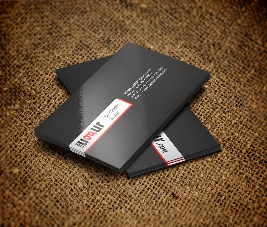 Black-White-Red Business Card by Mottcalem on DeviantArt