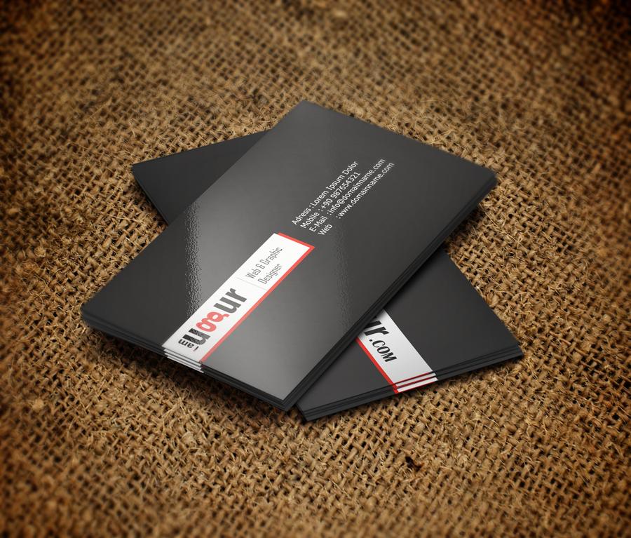 Black-White-Red Business Card by Mottcalem on DeviantArt