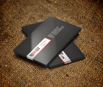 Black-White-Red Business Card