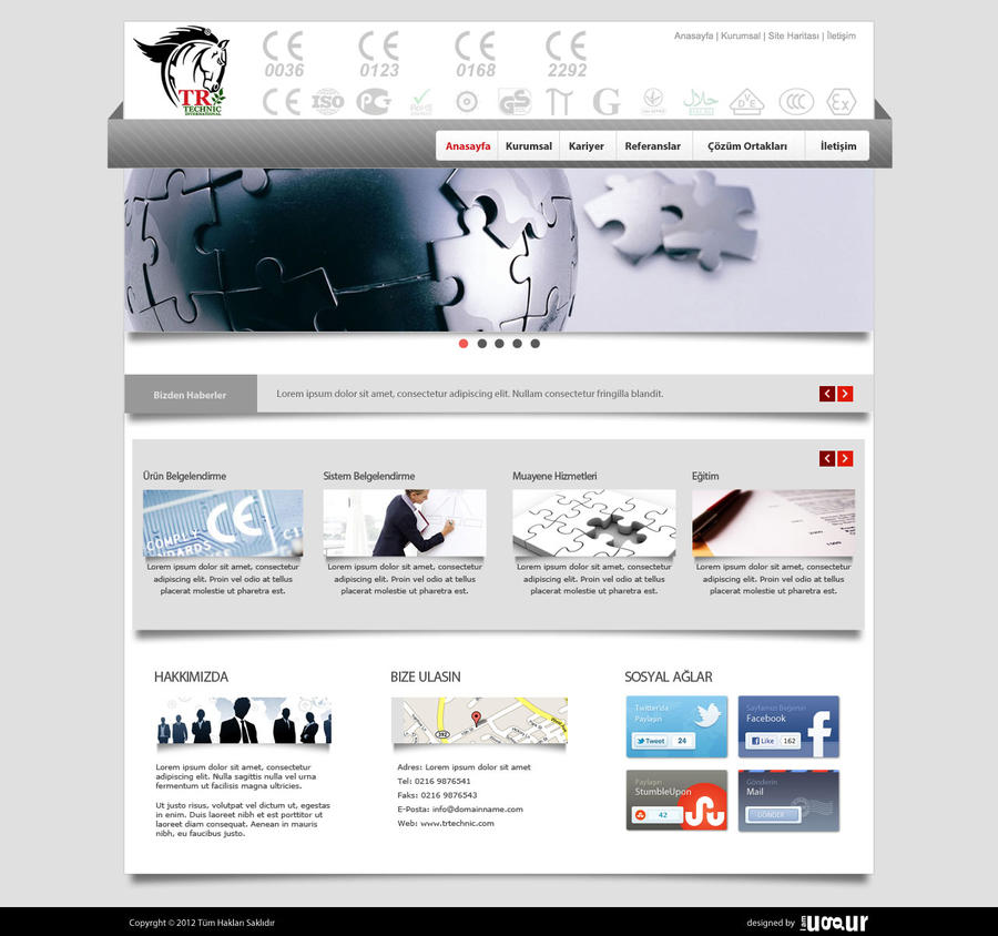 Web Design for TR Technic by Mottcalem
