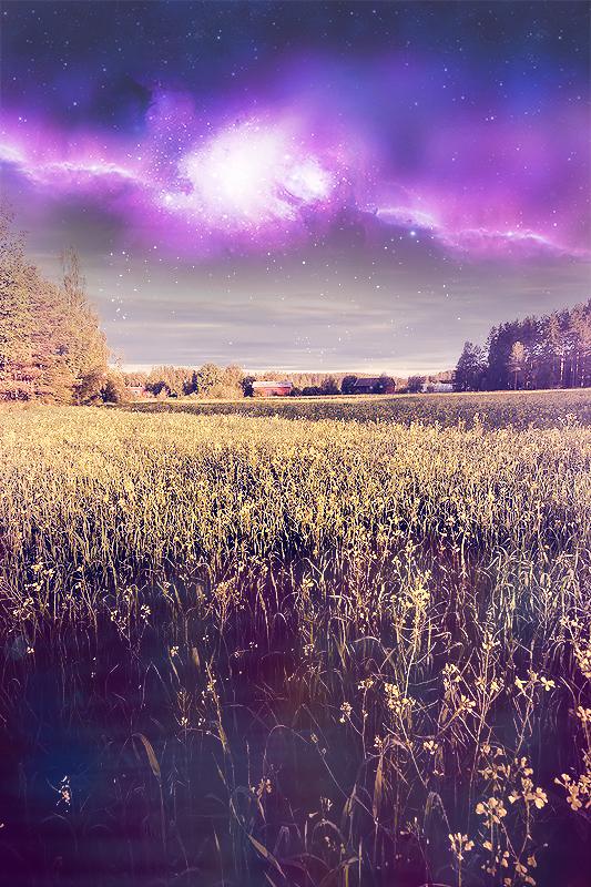 Space in the field by TheAlien-art
