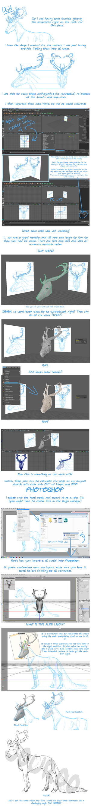 Using a 3D Reference Model - Walkthrough by jouroo
