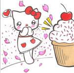 Hello Kitty Hearts Cupcakes