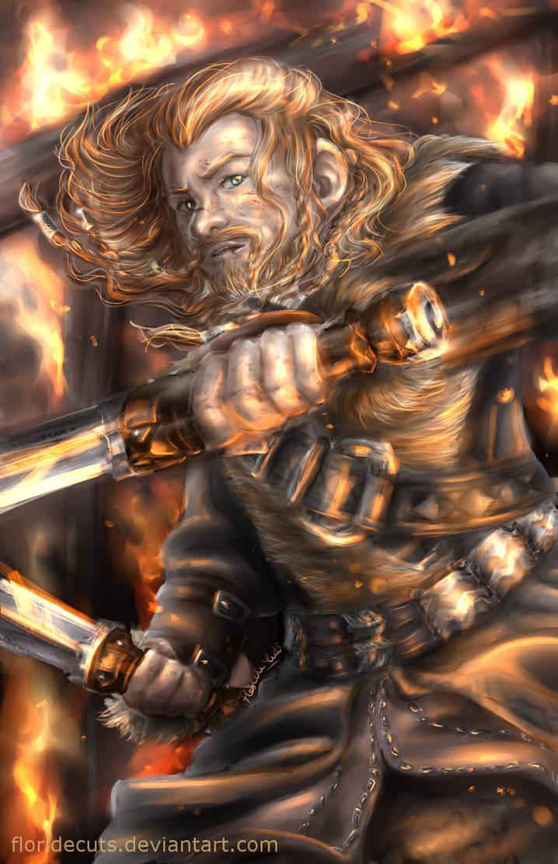 Sword vs Fire by FlorideCuts