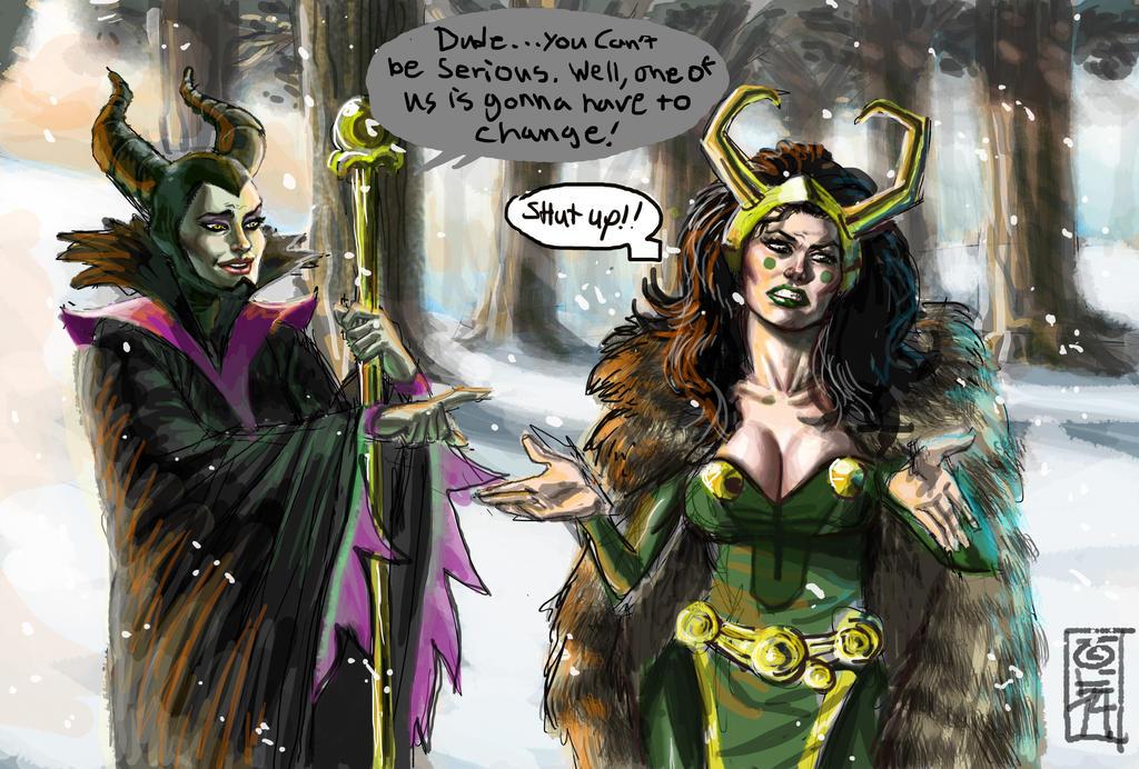 Maleficent And Loki By Seanrandolph On Deviantart