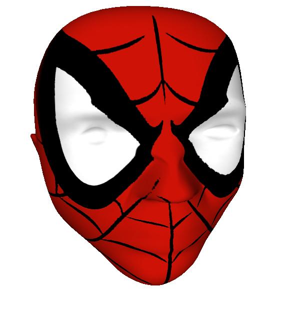 spiderman cartoon face
