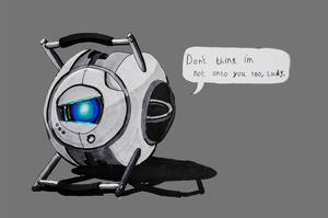 Suspicious Wheatley by turnip-stew