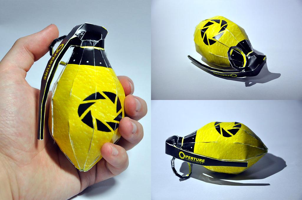 Papercraft Lemon Grenade by turnip-stew