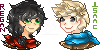 :Pixel Art: Regan and Isaac by MarcelineeBask