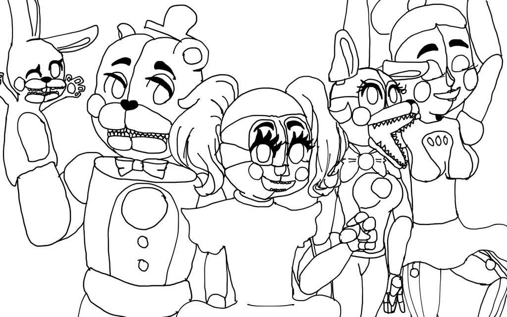 sister location coloring pages - f naf foxy drawing coloring pages