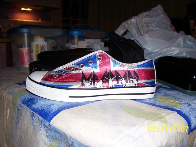 Fan art - shoe - Def Leppard by siriuslysmitten