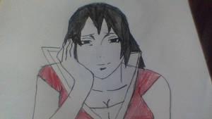 kazuna uchiha listening to sakura