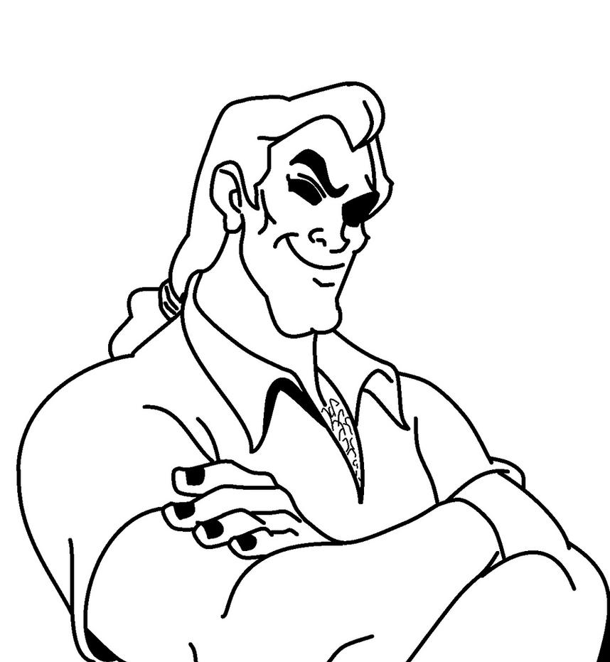 Disney coloring pages gaston disney best free coloring pages for Gaston coloring pages