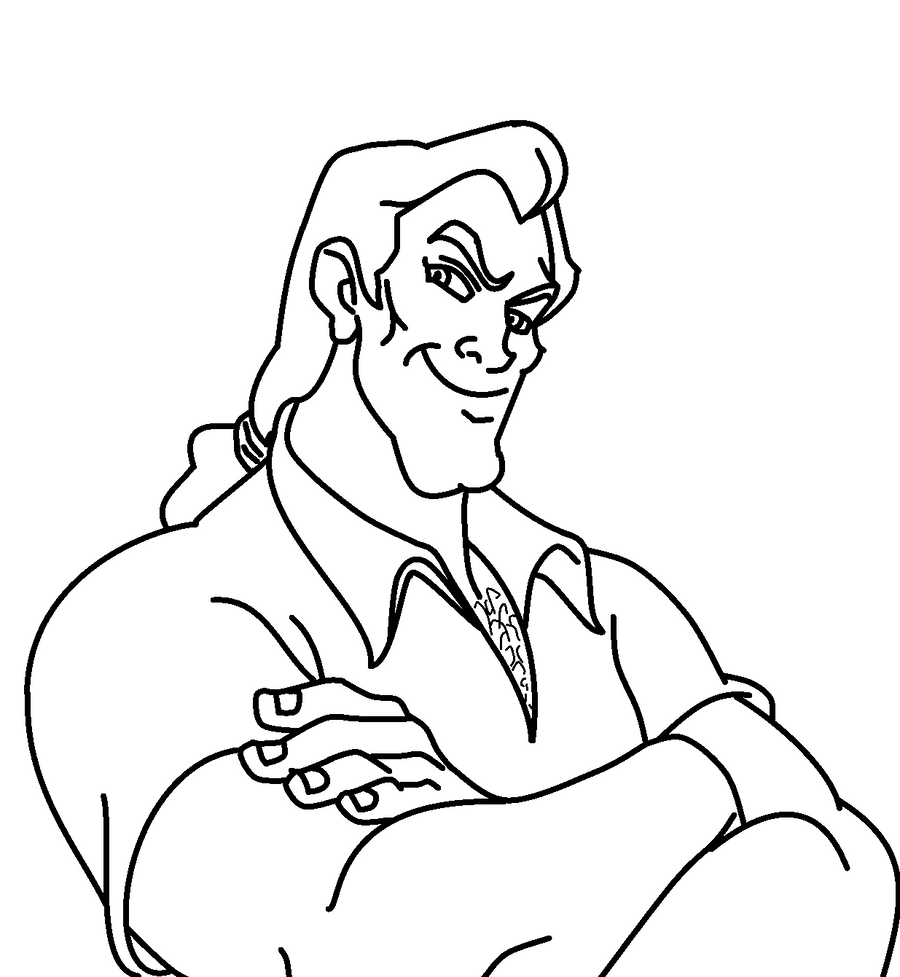 This is an image of Epic gaston coloring page