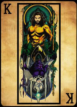 Rereading of art promo Card Reis - Aquaman