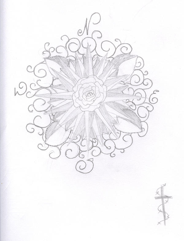 TattooCompass Rose Design by
