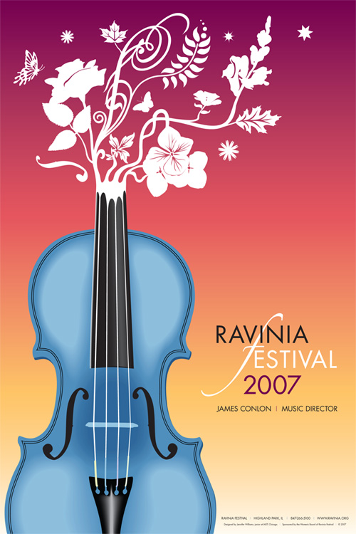 Ravinia Festival 2007 Poster by yashafreak