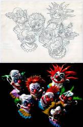 Killer klowns by Hieloh