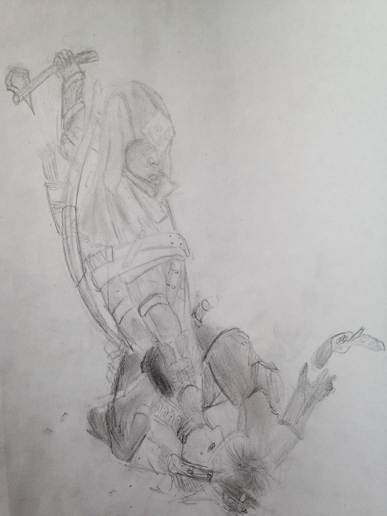 Assassins creed 3 connor sketch by Labi01