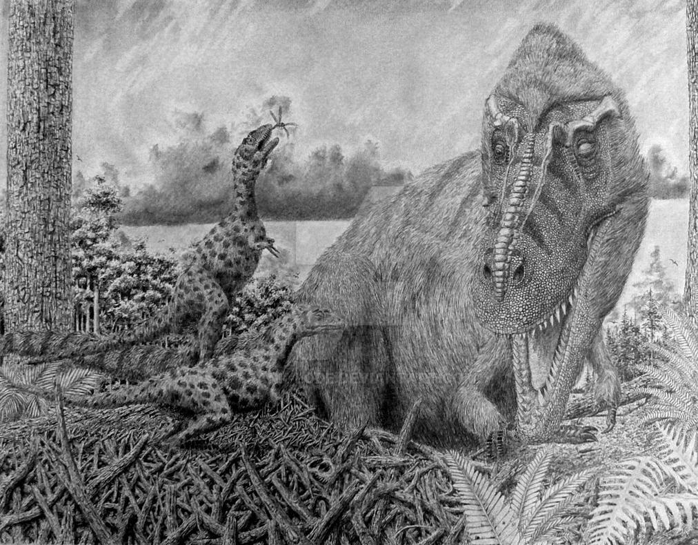 Gorgosaurus family. by Frank-Lode