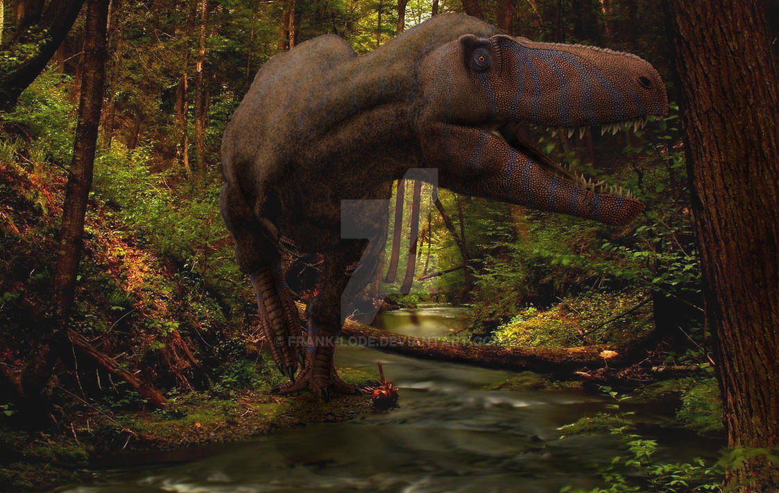 Awesome Paleoart  Appalashiosaurus_in_the_forest__by_frank_lode-d7zjri5