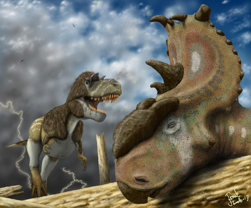 Gorgosaurus finds food after the storm. by Frank-Lode