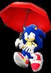Scared Sonic Umbrella (SFM render)