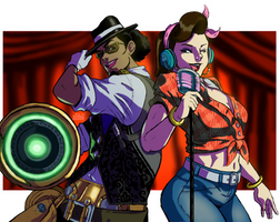 D.va X Lucio: Play That Jazz, Daddio! by 8thMidknight