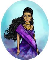 Sumerian Goddess by Vashihea