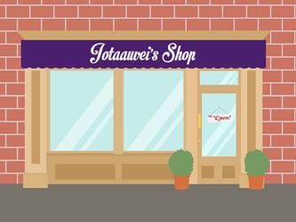 Jotaauveis Shop Sign Cover by jotaauvei