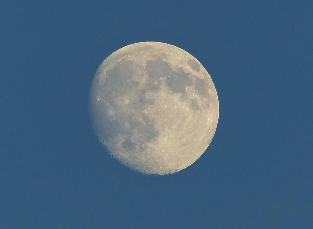Evening moon by Zajhra