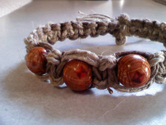 Two Tone Orange Bead Bracelet by stormicierra